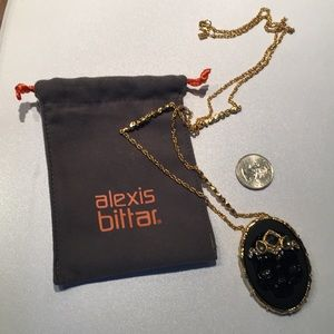 designer Alexis Bittar Skull Neckale